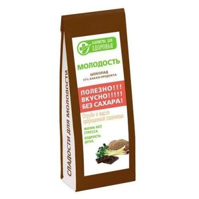 Шоколад горький Лакомства для здоровья с отрубями и маслом пшеницы