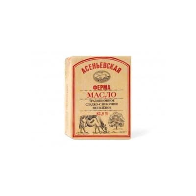 Масло сладкосливочное несоленое 'Асеньевская ферма' 82,5% в/с