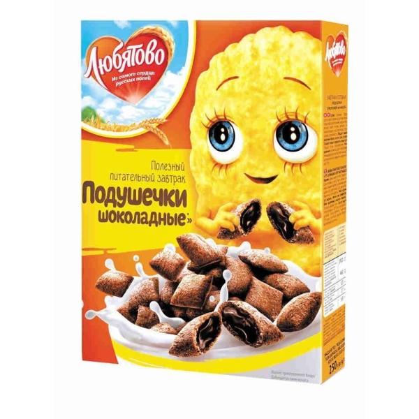 Подушечки Любятово с шоколадной начинкой