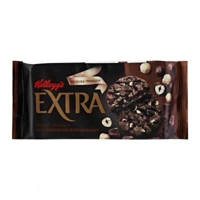 Печенье Гранола Kellogg's с шоколадом и фундуком