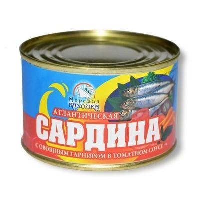 Сардина Морская находка атлантическая с овощным гарниром в томатном соусе