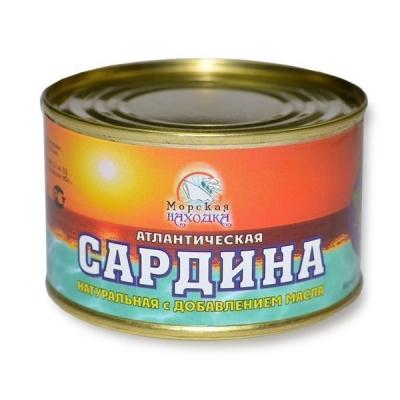 Сардина Морская находка натуральная с добавлением масла