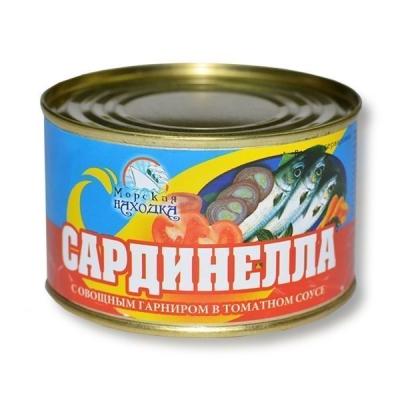Сардинелла Морская находка атлантическая с овощным гарниром