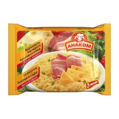 Вермишель Анаком быстрого приготовления бекон сыр (пакет)