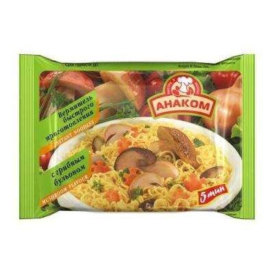 Вермишель Анаком быстрого приготовления с грибным бульоном (пакет)
