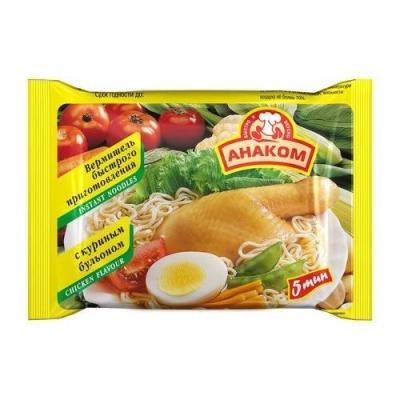 Вермишель Анаком быстрого приготовления с куриным бульоном (пакет)
