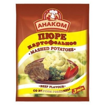 Пюре картофельное Анаком быстрого приготовления вкус говядины (пакет)