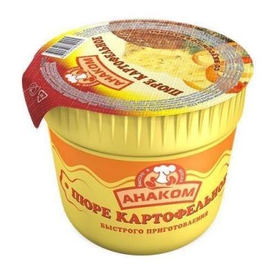 Пюре картофельное Анаком быстрого приготовления вкус говядины (стакан)