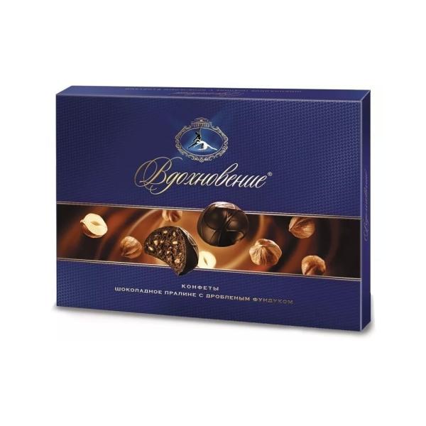 Конфеты в коробке Вдохновение шоколадное пралине с дробленым фундуком