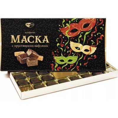 Конфеты в коробке Рот Фронт Маска хрустящие вафли