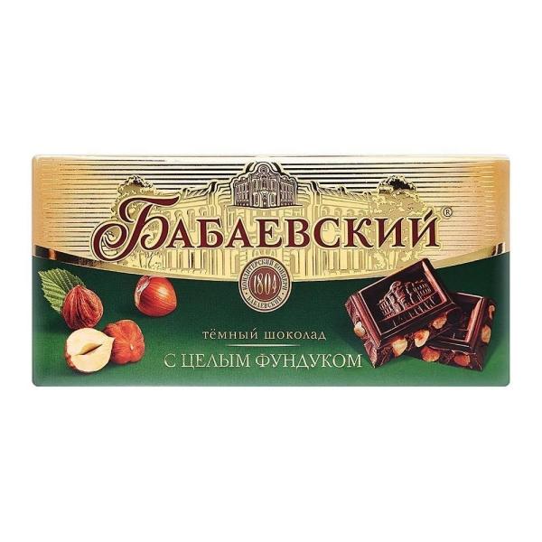 Шоколад Бабаевский цельный фундук