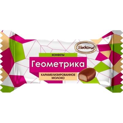 Конфеты Акконд Геометрика карамелизированное молоко