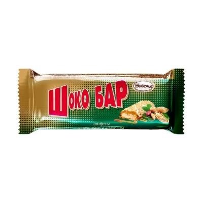 Конфеты Акконд Шоко бар с печеньем и арахисом