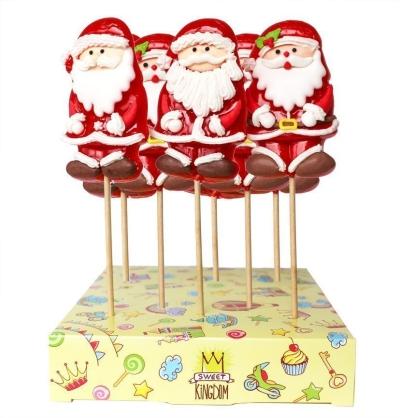 Карамель леденцовая в сахаре Дед Мороз 3D