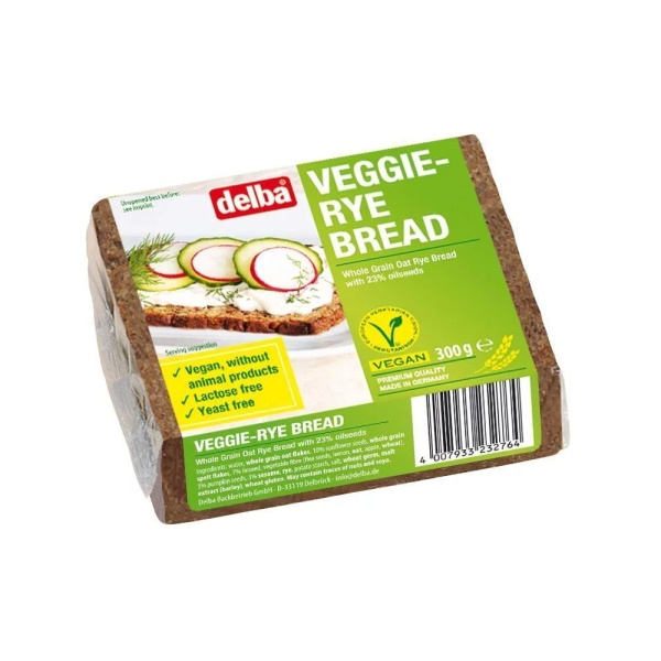 Хлеб Delba цельнозерновой вегетарианский