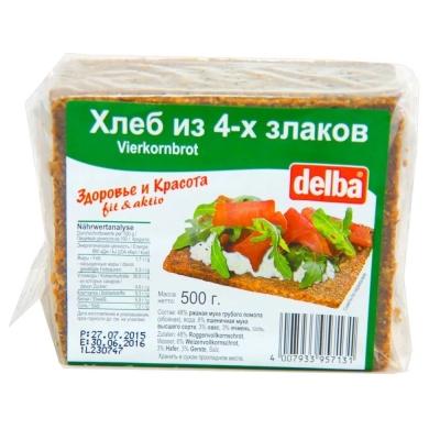 Хлеб Delba ржаной из 4-х злаков