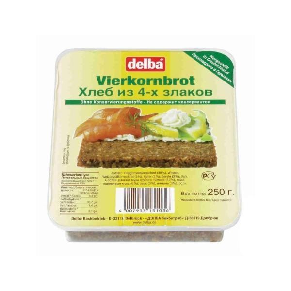 Хлеб Delba Ржаной хлеб из 4-х злаков
