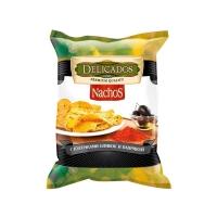 Чипсы Delicados Начос с кусочками оливок и паприкой
