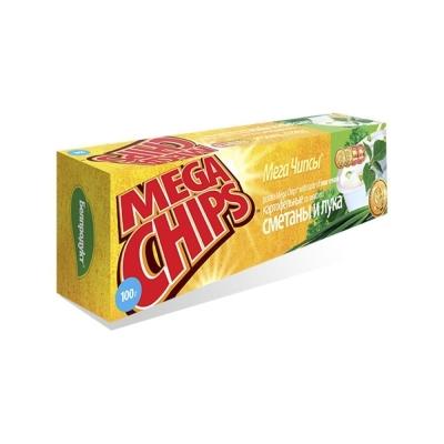 Чипсы Мега чипсы со вкусом сметаны и лука