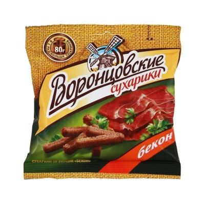 Сухарики ржаные Воронцовские с беконом