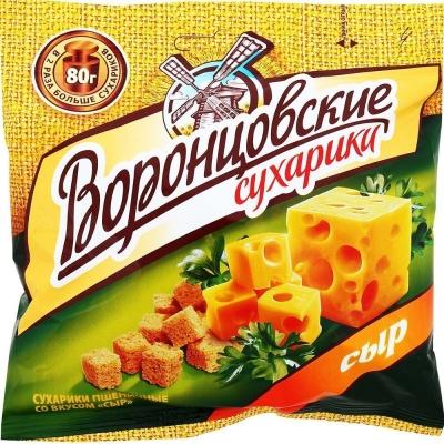 Сухарики пшеничные Воронцовские с сыром