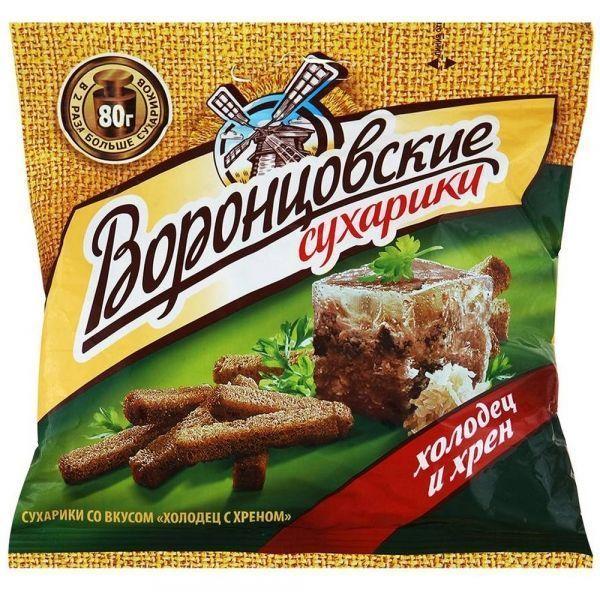 Сухарики ржаные Воронцовские с холодцом