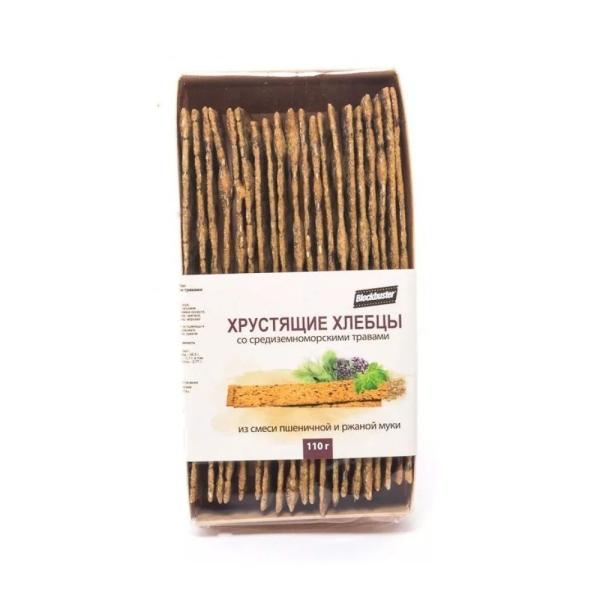 Хлебцы Блокбастер  хрустящие пшеничные со средиземорскими травами