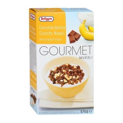 Мюсли хрустящие Bruggen Gourmet Jovita шоколадно-банановые с йогуртом