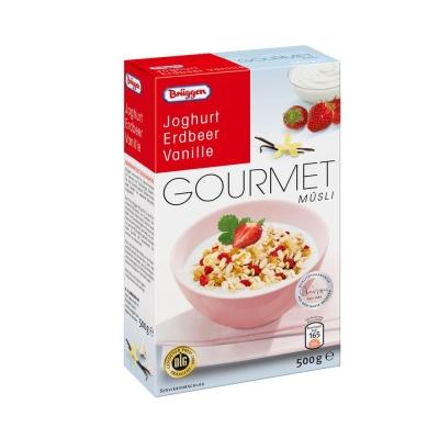 Мюсли Bruggen Gourmet Jovita клубнично-ванильные с йогуртом