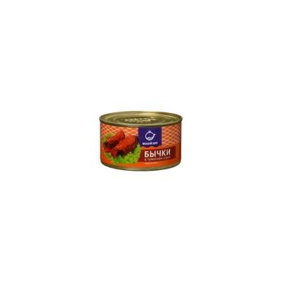 Бычки обжаренные Белый кит в томатном соусе