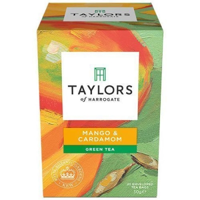 Чай зеленый листовой Taylors of Harrogate Манго и кардамон 20 пак.