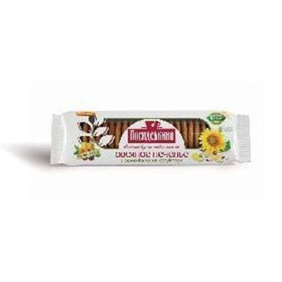 Печенье Любимый край Овсяное с семенами льна, подсолнуха, кунжута обогащенное клетчаткой на фруктозе