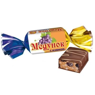 Конфеты Славянка Медунок с изюмом