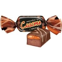 Конфеты Славянка Сласть шоколадная нуга с карамелью
