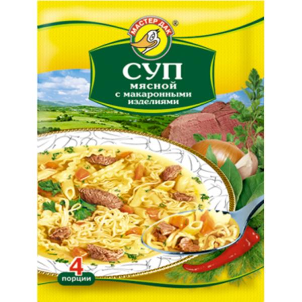 Суп мясной Мастер Дак с макаронными изделиями