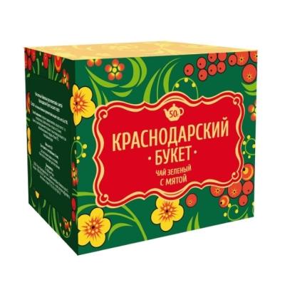 Чай Краснодарский букет зеленый с мятой 25 пак.