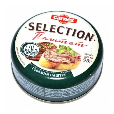 Паштет Carnex Selection Халяль говяжий