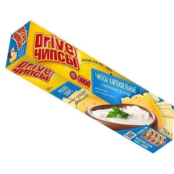 Чипсы Сиббалт Drive со вкусом Сметаны и Сыра