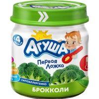 Пюре  Агуша овощное  Брокколи  стеклянная банка