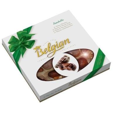 Шоколадные конфеты 'The Belgian' Дары моря зеленый бант окно