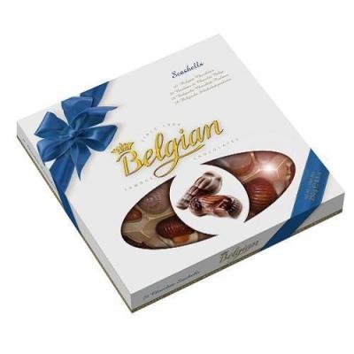 Шоколадные конфеты 'The Belgian' Дары моря синий бант окно