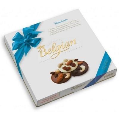 Шоколадные конфеты 'The Belgian' медальоны с орехами и изюмом