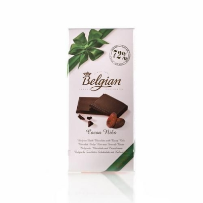 Шоколад 'The Belgian' Горький с какао бобами (какао 72%)