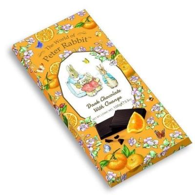 Шоколад 'The World of Peter Rabbit' Тёмный с апельсином Bar Dark Orange Bunny Кролики