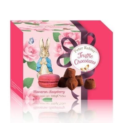 Шоколадные конфеты 'Peter Rabbit' Французские трюфели с печеньем Macaron с малиной