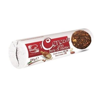 Печенье 'Piselli' шоколадное со злаками
