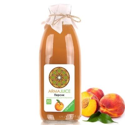 Сок ARMAjuice Органик персиковый без сахара 100%
