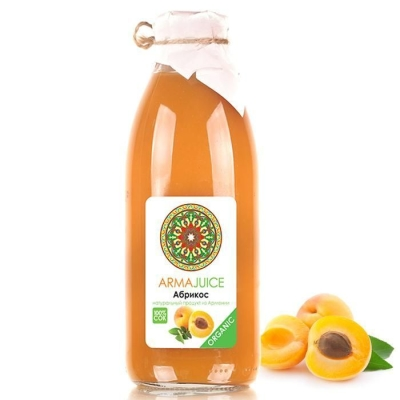 Сок ARMAjuice Органик абрикосовый без сахара 100%