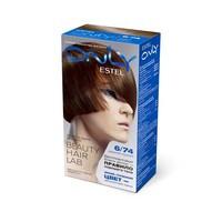 Стойкая краска-гель для волос Estel Only 6/74 Тёмно-русый коричнево-медный