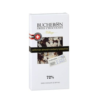 Шоколад Bucheron горький с миндалем, клюквой, фисташками